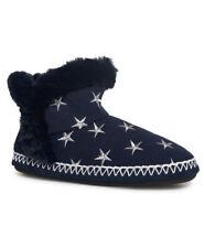 Chemise Femme Slipper Boot-chiné bleu marine/argent