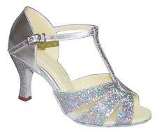 Ladies Latin Dance Shoes Ballroom Salsa Line UK 3 - 8