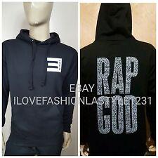 Eminem RAP GOD  - POCKET E - PULLOVER HOODIE  Slim Shady NWA Detroit vs Dear