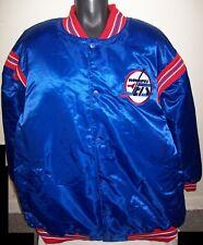 WINNEPEG JETS NHL STARTER Satin Snap Down Jacket Blue/Red BIG MAN'S  5X 6X
