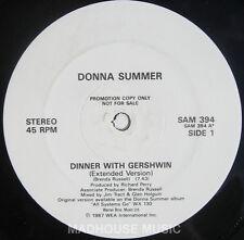 "Donna SUMMER 12"" tavola calda con GERSHWIN esteso UK PROMO 3 TRACCIA RARO"