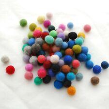 100 compter-Bleu marine 1cm 1,5 cm 2 cm 2,5 cm 3cm boules feutre 100/% laine