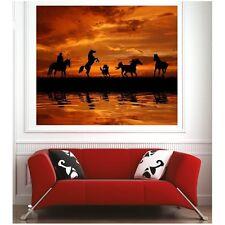 Affiche poster chevaux cavaliers 65321284 Art déco Stickers