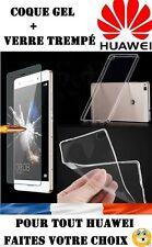 vitre protection verre trempé film de protecteur écran pr HUAWEI Mate 9 + Coque