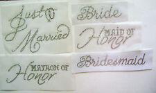 WEDDING PARTY /  BRIDAL ~ MARRIAGE RHINESTONE IRON ON HOT FIX TRANSFER  APPLIQUE