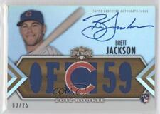 2012 Topps Triple Threads Gold #BJ Brett Jackson Chicago Cubs Baseball Card
