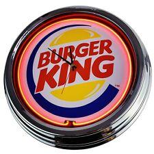"""N-0273 Wanduhr """"Burger King"""" Deko Neonuhr Küche Wohnzimmer Büro Uhr"""