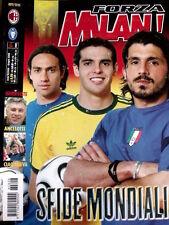 Forza Milan 6 2006 Poster Marcio Amoroso - Nesta Kaka' Gattuso