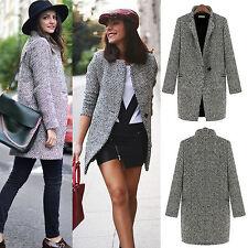 Damen Mantel Jacke Winter Parka Trench Coat Winterjacke Duffle Blazer Outwear