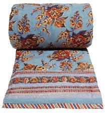 "Anokhi twin quilt: Skyflower Blue - 100% Cotton - 70"" x 108"""