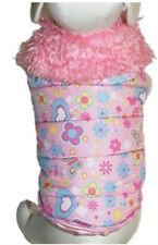 Super Sassy Designer Dog Coat Parka Pink Cha-Cha Couture - S - M