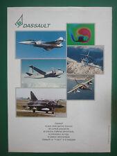 10/1990 PUB DASSAULT AVIATION FALCON 900 MIRAGE 2000 RAFALE A ALPHA-JET ATL 2 AD