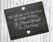 Wedding Print for Memorial table 8x10 Faux Chalkboard Rustic Look Cardstock