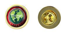 Triumph Vitesse Globe Logo Clutch Pin Badge Choice of Gold/Silver
