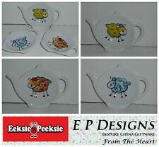 BN Funky Sheep Tea Bag Tidy,Tea Bag Rest, Porcelain Ceramic Tea Bag Holder