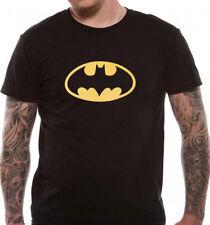 Batman Shield Logo T Shirt Official  DC Comics Black  S M L XL XXL 5XL Mens