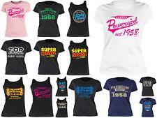 60 Geburtstag Damenshirt Frauen T-Shirt Geburtstag Jahrgang 1958 - 60 Jahre