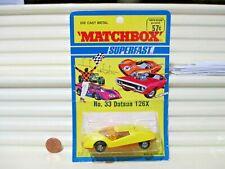 1971 Lesney Matchbox Superfast MB33B Yellow +Orange DATSUN 126X Mint in BubblePk
