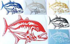 HAWAIIAN ULUA FISH Hawaii Vinyl Decal Car Window Sticker CHOOSE 6 COLORS 4 SIZES