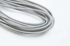 Lederschnur (ab 3,5€/m) Gesäumt 2,5 mm. Grau. Lederband. Genäht. Lederriemen