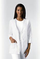 White Cherokee Light & Lovely 3/4 Sleeve Embroidered Scrub Jacket 1491 WHTD