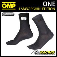 IAA/724 OMP LAMBORGHINI EDITION NOMEX FIREPROOFS SOCKS BLACK FIA 8856-2000