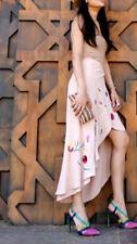 Zara Woman Jupe avec broderie fleurs Floral Embroidered Long Skirt S M
