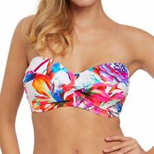 Fantasie Swimwear Paradise Bay Scarf Tie Padded Bandeau Bikini Top Multi 6476
