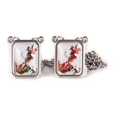 SCAPULAR SÃO JORGE Men's Silver Necklace - Men's Fashion Jewelry