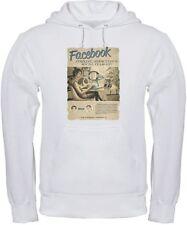 FELPA FACEBOOK VINTAGE social network internet t-shirt maglia FB maglietta BIANC