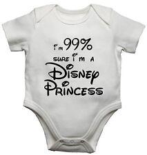 Im 99% Sicuro A Disney Principessa Ragazze Divertente Body Bebè Personalizzato