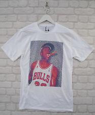 Realidad de Michael Jordan Cigarro Blanco Cuello Redondo Camiseta Camiseta