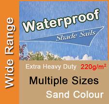 Heavy Duty Waterproof Shade Sail Sand Beige Cream Rain Triangle Square Rectangle