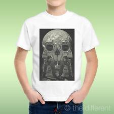 T-Shirt Bambino Ragazzo Moon Skull Teschio Luna Astronauti Idea Regalo