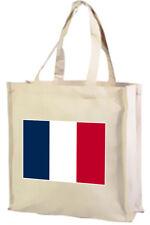 BANDIERA Francese Cotone Shopping Bag-scelta colori: Nero, Crema, rosa.