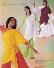 Dance COSTUME JAZZ TOP 60/'S FLAIR Child Ladies lycra spandex orange tunic