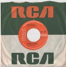 """Elvis Presley - Return To Sender 7"""" Single"""