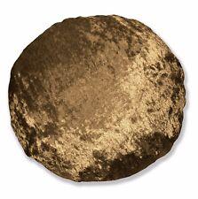 mv10n Light Brown Gold Shimmer Diamond Crushed Velvet Round Shape Cushion Cover