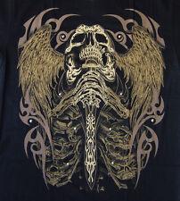Tattoo Motivo Skull spada AngelWings 3d T-SHIRT M L XL XXL Hell Riders 3d-10