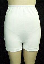 3 Pair White Long Leg 100% Cotton Panties Trunk Panty   Extended Sizes 5 thru 15