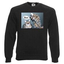 Bengal Cat Sweatshirt fleece lined, choice of size & cols