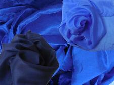 Halstücher - Schals  reine Seide handcoloriert umweltfreundliche Farben blau