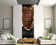 Papier peint déco lé unique Chocolat réf 2083 ( 3 dimensions )