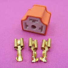 H4 Connettore in ceramica 9003 Lampada Presa Auto 3 PIN HID FARI 3 TERMINALI