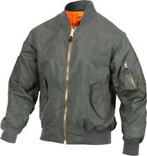 Sage Green Lightweight Air Force MA-1 Reversible Bomber Coat Flight Jacket