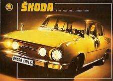Skoda S100 L S110 L LS R 1973 UK Market Leaflet Sales Brochure