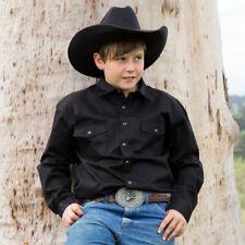 New Boys 100% Cotton Black Dress Shirt - 8056K Boys ShirtBrigalow