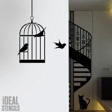 Gabbia per uccelli SILHOUETTE Stencil casa decorazione parete artigianato