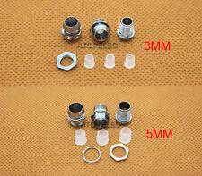 10-200pcs 3MM / 5MM Chromed Copper Metal LED Holder with Nut Bezel Panel Mount