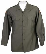 NUOVO Uomo Camicia da campo di Bundeswehr MANICHE LUNGHE SERIE Taglia 39 - 48